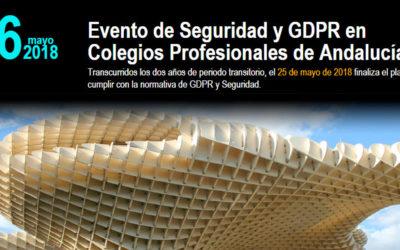 Jornadas de seguridad y Protección de datos para Colegios Profesionales en Andalucía